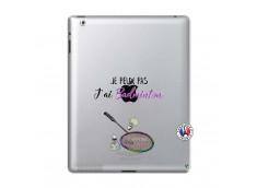Coque iPad 2 Je Peux Pas J Ai Badminton