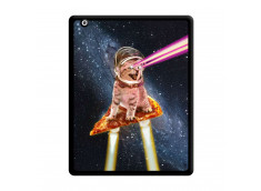 Coque iPad 2 Cat Pizza Noir