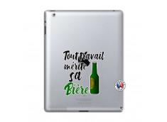 Coque iPad 2 Tout Travail Merite Sa Biere