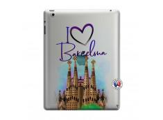 Coque iPad 3/4 Retina I Love Barcelona