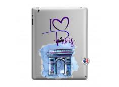 Coque iPad 3/4 Retina I Love Paris Arc Triomphe