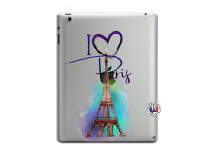 Coque iPad 3/4 Retina I Love Paris