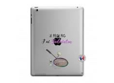 Coque iPad 3/4 Retina Je Peux Pas J Ai Badminton