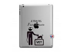 Coque iPad 3/4 Retina Je Peux Pas Je Suis Veterinaire