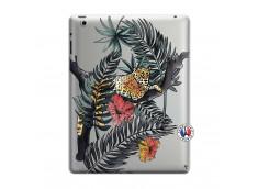 Coque iPad 3/4 Retina Leopard Tree