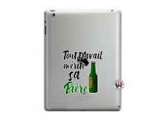 Coque iPad 3/4 Retina Tout Travail Merite Sa Biere