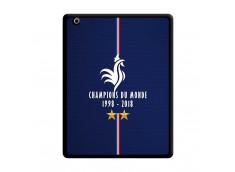 Coque iPad 3/4 Retina Champions Du Monde 1998 2018 Noire