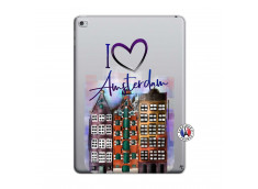 Coque iPad AIR 2 I Love Amsterdam