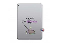 Coque iPad AIR 2 Je Peux Pas J Ai Badminton