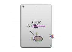 Coque iPad AIR Je Peux Pas J Ai Badminton