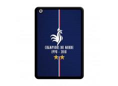 Coque iPad Mini 1 Champions Du Monde 1998 2018 Noire