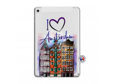 Coque iPad Mini 4 I Love Amsterdam