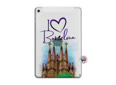 Coque iPad Mini 4 I Love Barcelona