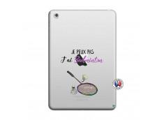 Coque iPad Mini 3/2/1 Je Peux Pas J Ai Badminton