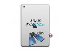 Coque iPad Mini 3/2/1 Je Peux Pas J Ai Natation