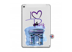 Coque iPad Mini 4 I Love Paris Arc Triomphe
