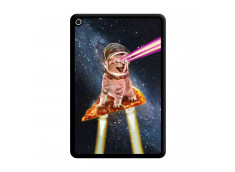 Coque iPad Mini 5/4 Cat Pizza Noir