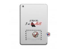 Coque iPad Mini 3/2/1 Je peux pas j'ai Handball