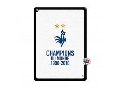 Coque iPad PRO 12.9 Champion Du Monde Noir