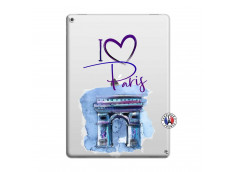 Coque iPad PRO 12.9 I Love Paris Arc Triomphe
