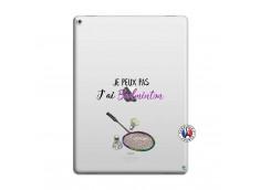 Coque iPad PRO 12.9 Je Peux Pas J Ai Badminton