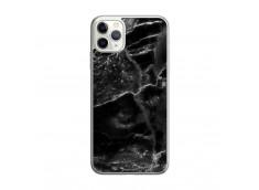 Coque iPhone 11 PRO MAX Black Marble Translu