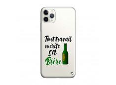Coque iPhone 11 PRO MAX Tout Travail Merite Sa Biere
