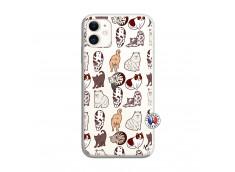 Coque iPhone 11 Cat Pattern