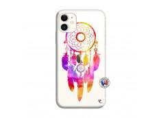 Coque iPhone 11 Dreamcatcher Rainbow Feathers