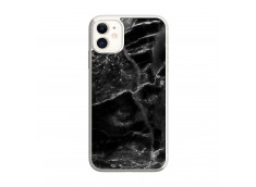 Coque iPhone 11 Black Marble Translu