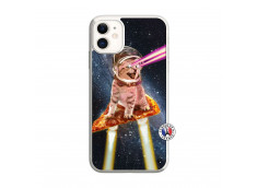 Coque iPhone 11 Cat Pizza Translu