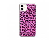 Coque iPhone 11 Pink Leopard Translu