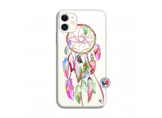 Coque iPhone 11 Pink Painted Dreamcatcher