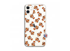 Coque iPhone 11 Petits Poissons Clown