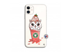 Coque iPhone 11 Smoothie Cat Ice Cream