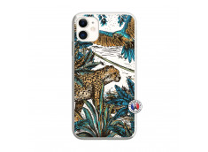 Coque iPhone 11 Leopard Jungle