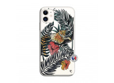 Coque iPhone 11 Leopard Tree