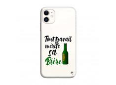 Coque iPhone 11 Tout Travail Merite Sa Biere