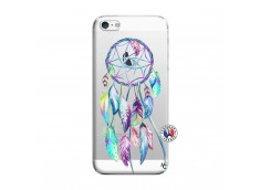 Coque iPhone 5/5S/SE Blue Painted Dreamcatcher
