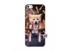 Coque iPhone 5/5S/SE Cat Nasa Translu