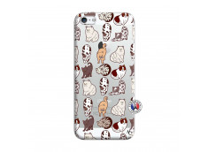 Coque iPhone 5/5S/SE Cat Pattern