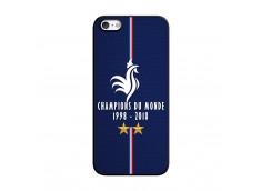 Coque iPhone 5/5S/SE Champions Du Monde 1998 2018 Noire