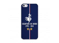 Coque iPhone 5/5S/SE Champions Du Monde 1998 2018 Transparente