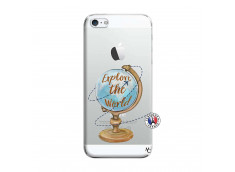 Coque iPhone 5/5S/SE Globe Trotter