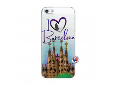 Coque iPhone 5/5S/SE I Love Barcelona
