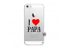 Coque iPhone 5/5S/SE I Love Papa
