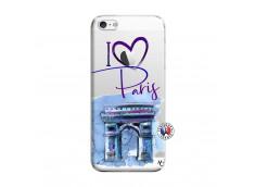 Coque iPhone 5/5S/SE I Love Paris Arc Triomphe