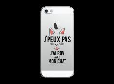 Coque iPhone 5/5S/SE J Ai Rdv Avec Mon Chat