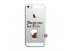 Coque iPhone 5/5S/SE Jamais Sans Ma Brune
