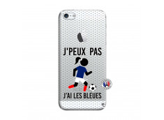Coque iPhone 5/5S/SE Je Peux Pas J Ai Les Bleues Maillot